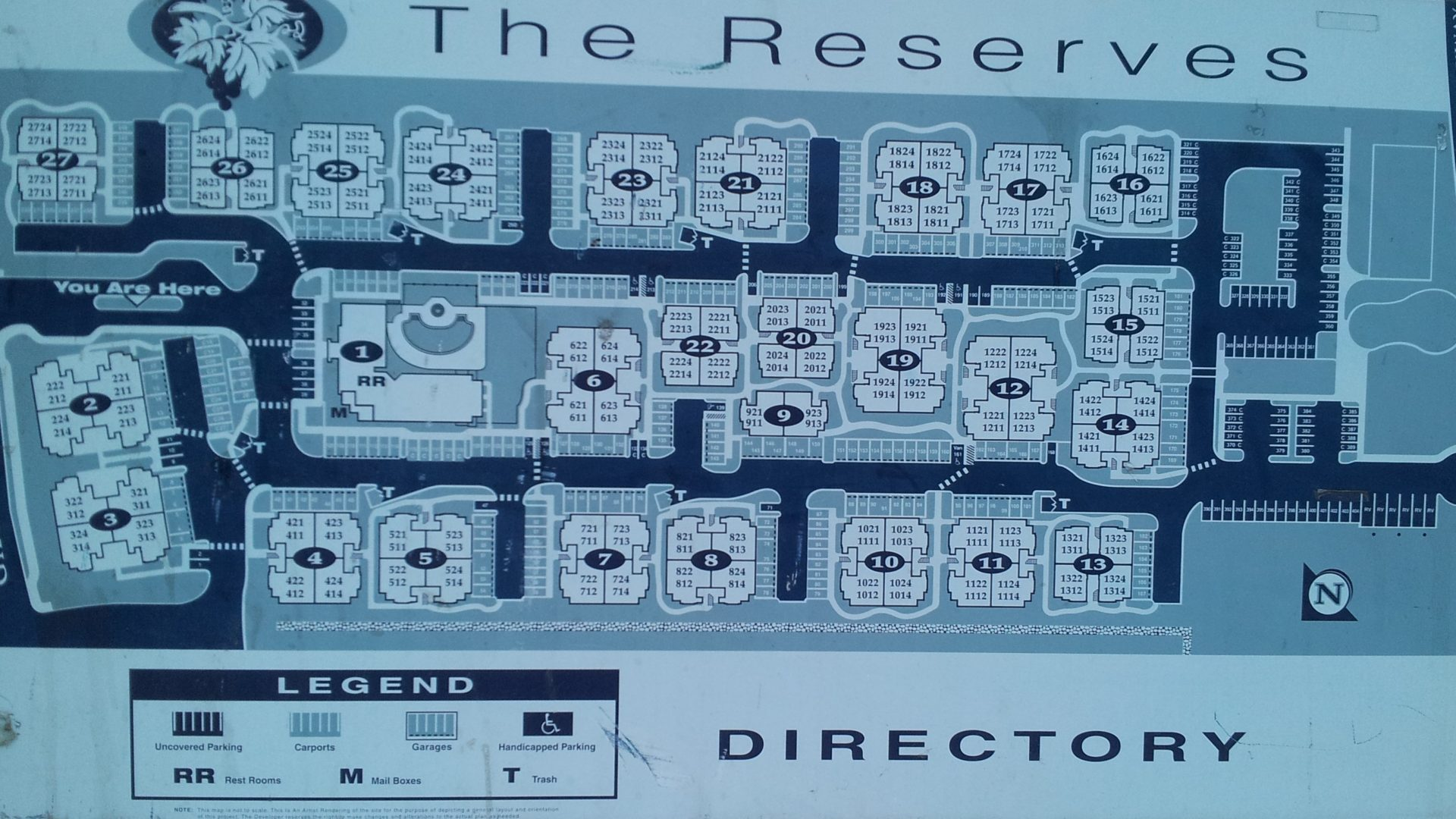 Map - The Reserves at Galleria, Roseville, California